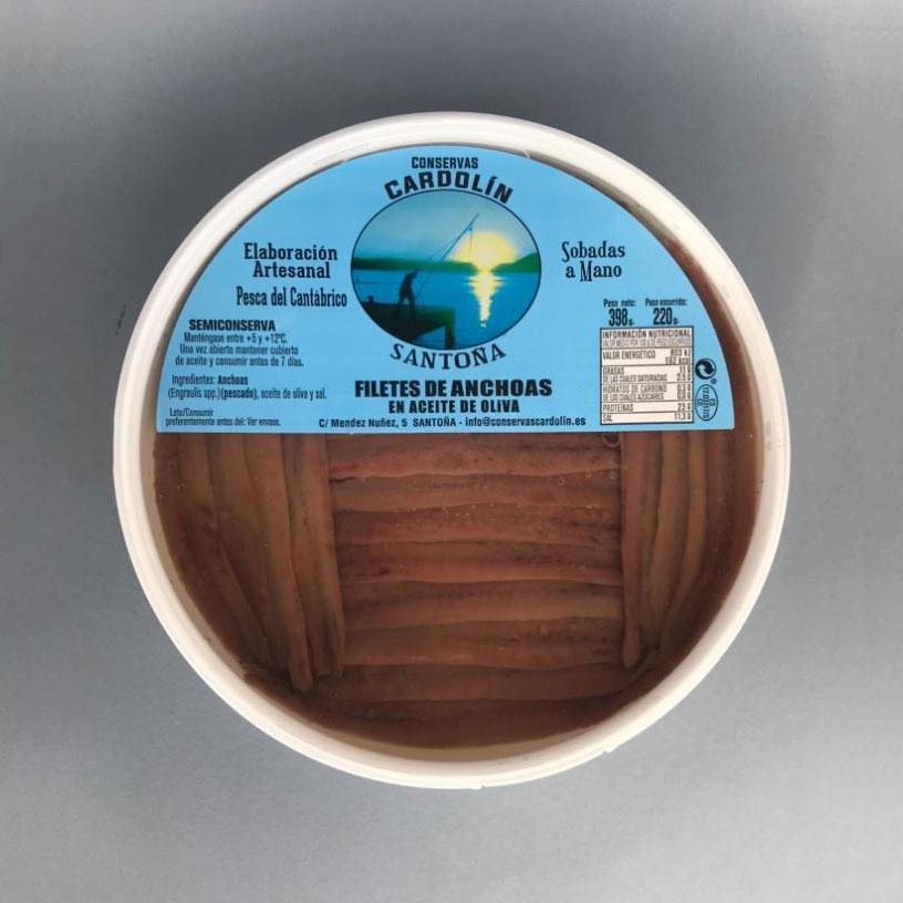Pandereta anchoas selectas 0,0 398 gr