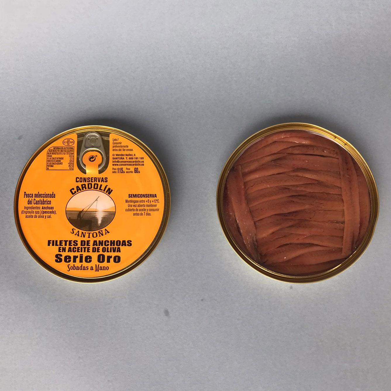 Pandereta anchoas selectas Serie Oro 115 gr