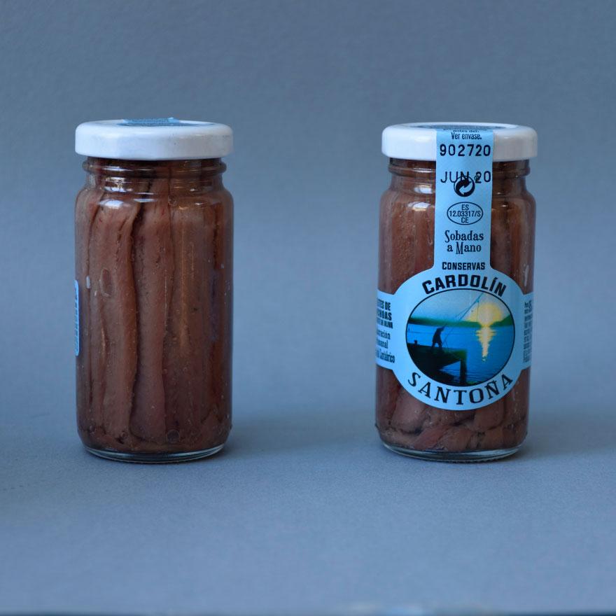 Anchoas tarro de cristal 95 gr