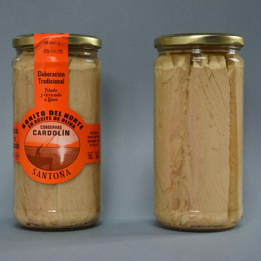 Tarro bonito en aceite de oliva 750 gr